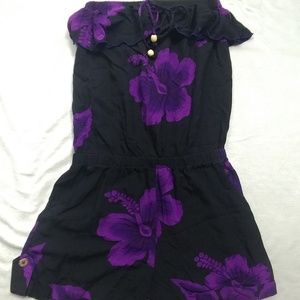Favant Hawaii Floral Short Romper Size Small